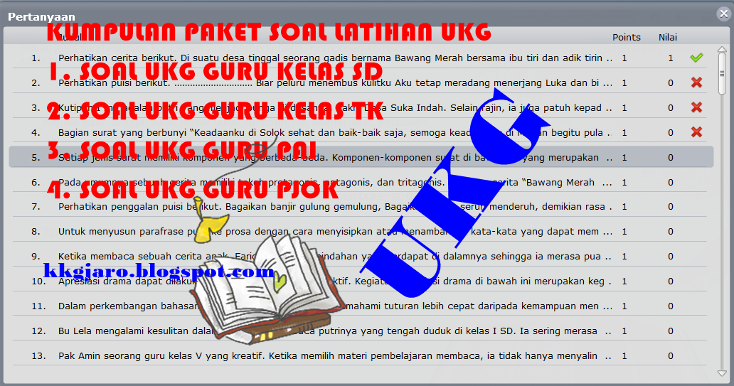 Download Kumpulan Paket Soal Latihan Ukg Terbaru Sekolah Now