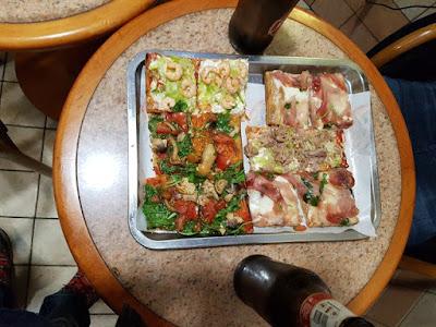 Pizzas al peso en Italia