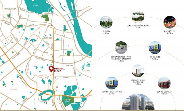 Vị trí đắc địa của chung cư Imperial Plaza