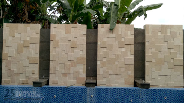batu alam dinding pagar