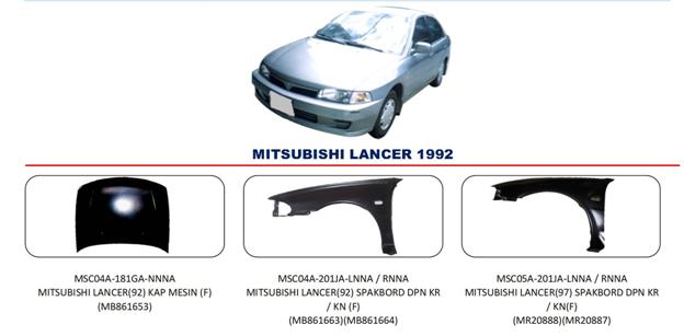Bodypart Mitsubishi Lancer 1992