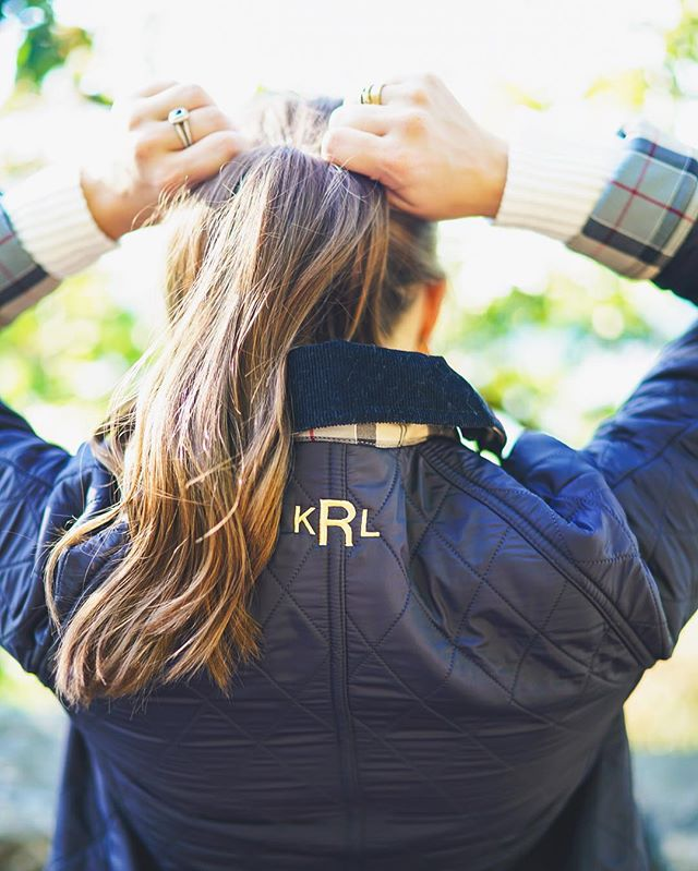 Monogrammed Barbour Jacket