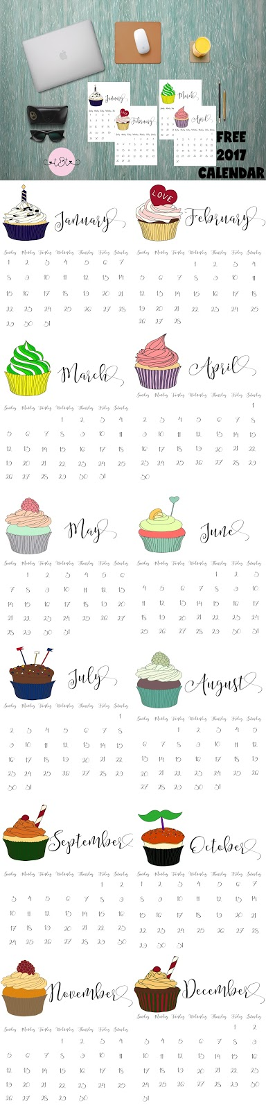 Tailored By Tiera 3 Free Printable 2017 Calendars