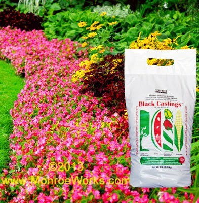 Certified worm castings and liquid fertilizer for annuals