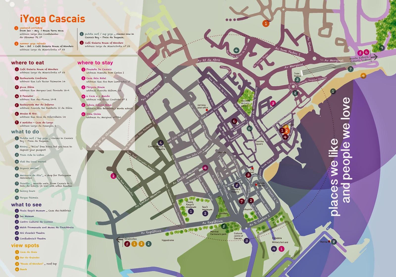 mapa de cascais Mapas de Cascais   Portugal | MapasBlog mapa de cascais