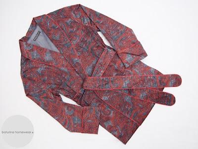 mens paisley cotton dressing gown english gentleman smoking jacket robe traditional