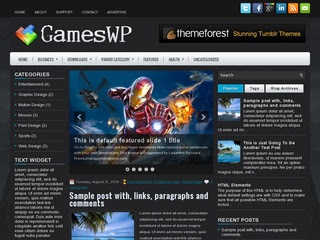 GamesWP blogger template