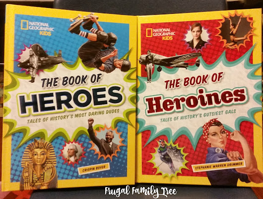 National Geographic Kids The Book of Heroes and The Book of Heroines Review and Giveaway #natgeokids #momsmeet