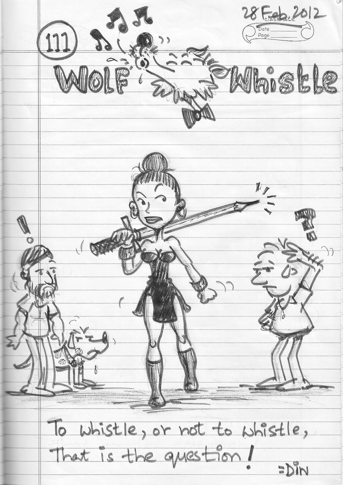 How do you write a wolf whistle? Like how do you write how it sounds lol?