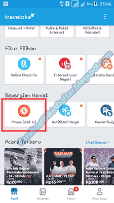 contoh e-tiket traveloka