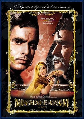 Poster Of Mughal-E-Azam 1960 Hindi 500MB DVDRip 480p Free Download Watch Online
