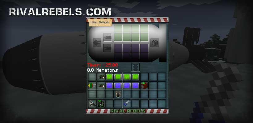 Rival Rebels: Build Tsar Bomba in Minecraft mod tutorial
