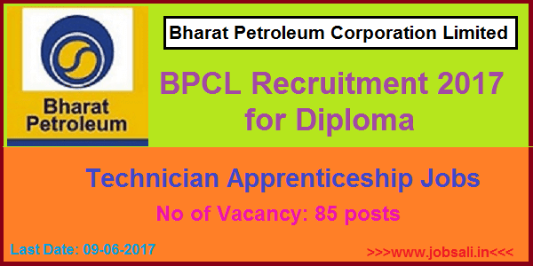 BPCL Careers, Technician Apprenticeship Jobs, Bharat Petroleum Corporation Limited Mumbai Recruitment