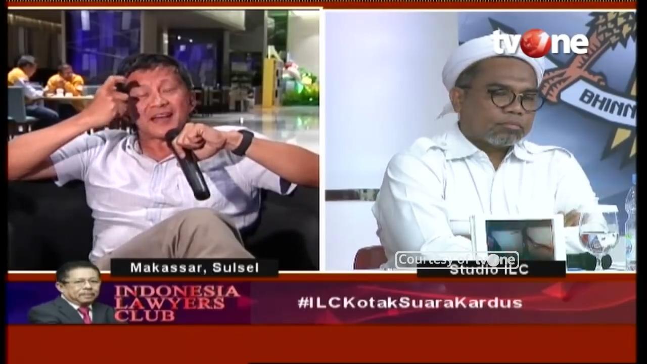 Ngamuk di ILC, 3 Pertanyaan Rocky Bungkam Ngabalin