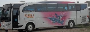 harga tiket bus EZRI jurusan Cirebon, Surabaya, Malang, Pekalongan-Jakarta.