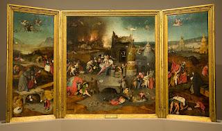 ヒエロニムス・ボス、聖アントニウスの誘惑の三連祭壇画 MNAA リスボン