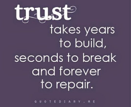 Broken Trust Quotes And Sayings: Every Now And Then