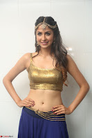 Malvika Raaj in Golden Choli and Skirt at Jayadev Pre Release Function 2017 ~  Exclusive 073.JPG