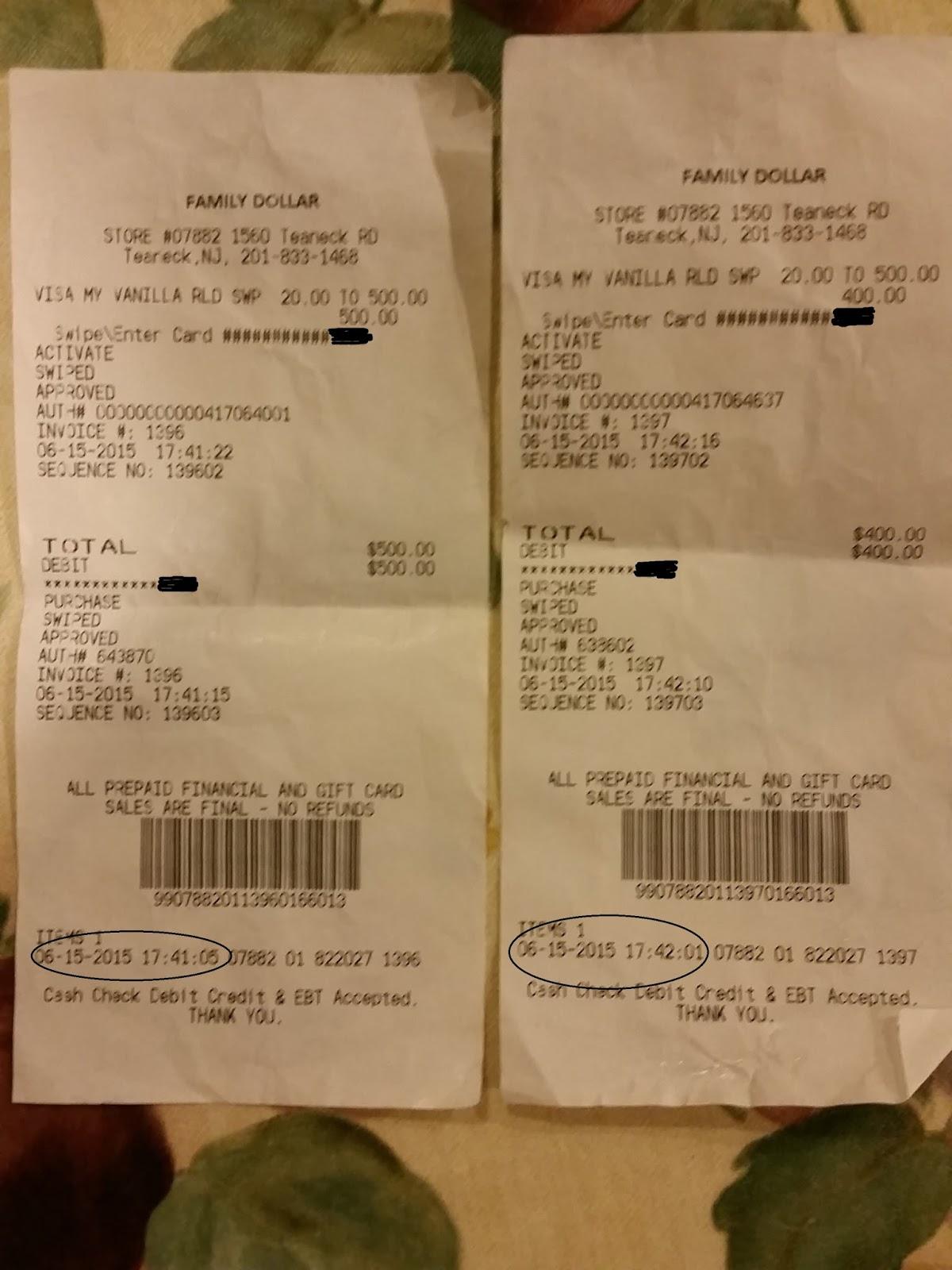 Oren S Money Saver Serve Reloads At Family Dollar 500 Per Store Is Not The Maximum