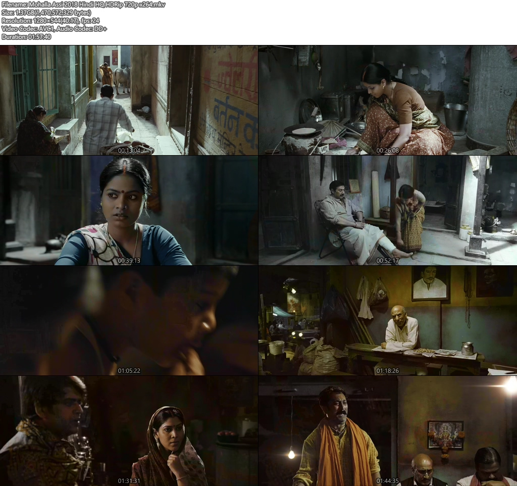Mohalla Assi 2018 Hindi HQ HDRip 720p x264 | 480p 300MB | 100MB HEVC Screenshot