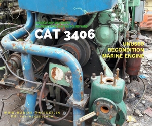 CAT 3406, used, recondition, ship machinery, genuine, OEM, running, reusable, India, Ship recycling, heat exchnager, HP, RPM, KW, sale, buy, supplier