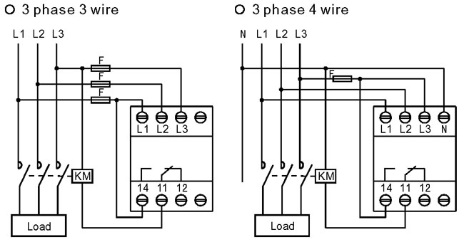Difference between Wiring of 3Phase 3Wire and 3Phase 4