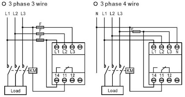 Difference between Wiring of 3Phase 3Wire and 3Phase 4
