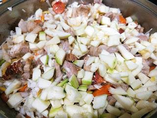 Рагу из свинины с овощами