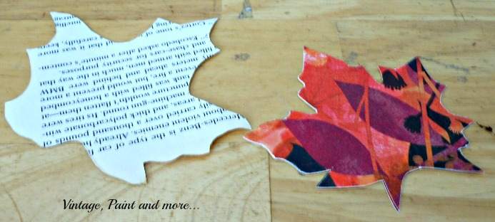 Vintage, Paint and more... grapevine wreath with paper leaves for fall