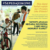 Kuis Berhadiah 10 Sepeda di Facebook Jokowi