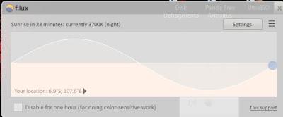 f.lux, Software Pengatur Warna Pencahayaan untuk PC Mu!