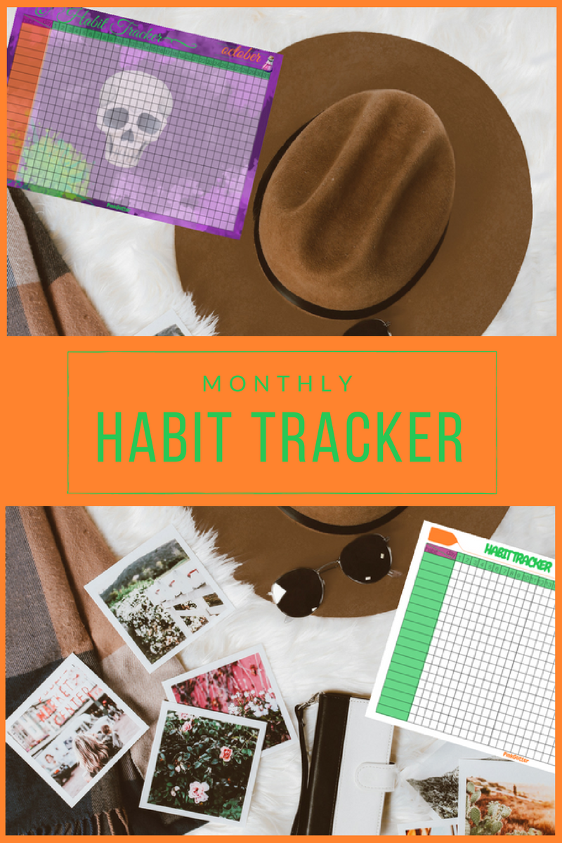 article free printables imprimables gratuits habit trackers toil and trouble halloween
