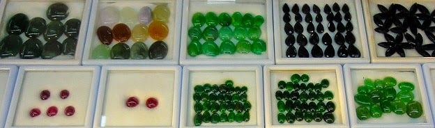 Jadeite cabochon for jewelry with various colors