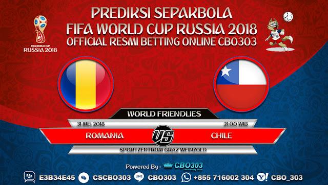 Prediksi Bola Romania VS Chile 31 Mei 2018