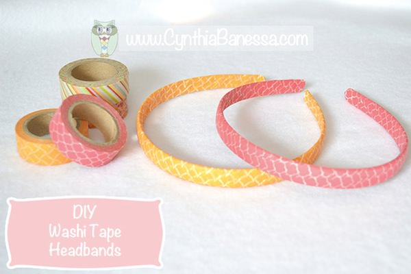 Pin from original source at http://cynthiabanessa.com/washi-tape-headbands/2014/