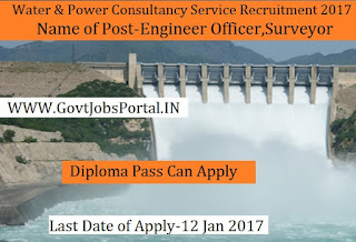 Water and Power Consultancy Services Recruitment 2017 For Engineer Officer Post