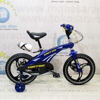 Sepeda Anak United Aero Rangka Aloi Mag Wheel Disc Brake 16 Inci