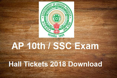 Manabadi AP 10th Hall Tickets 2018 Download, Eenadu AP SSC 2018 March Exam Hall Tickets Download
