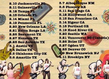 Hank & Cupcakes 2015 U.S. Tour Schedule