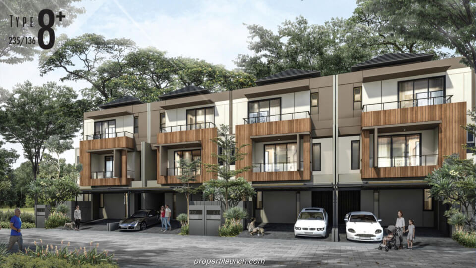Rumah Cluster Kazumi @ The Zora BSD Tipe 8+