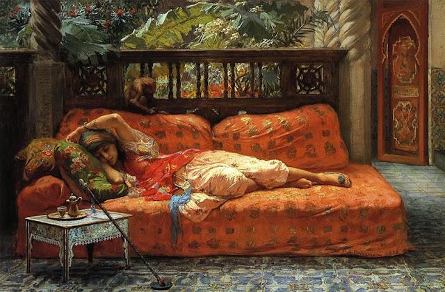 Η Σιέστα, πίνακας του Frederick Arthur Bridgman