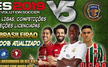 Option File V5   DLC 4.0   PES2019   PS4   Brasileirao 2019