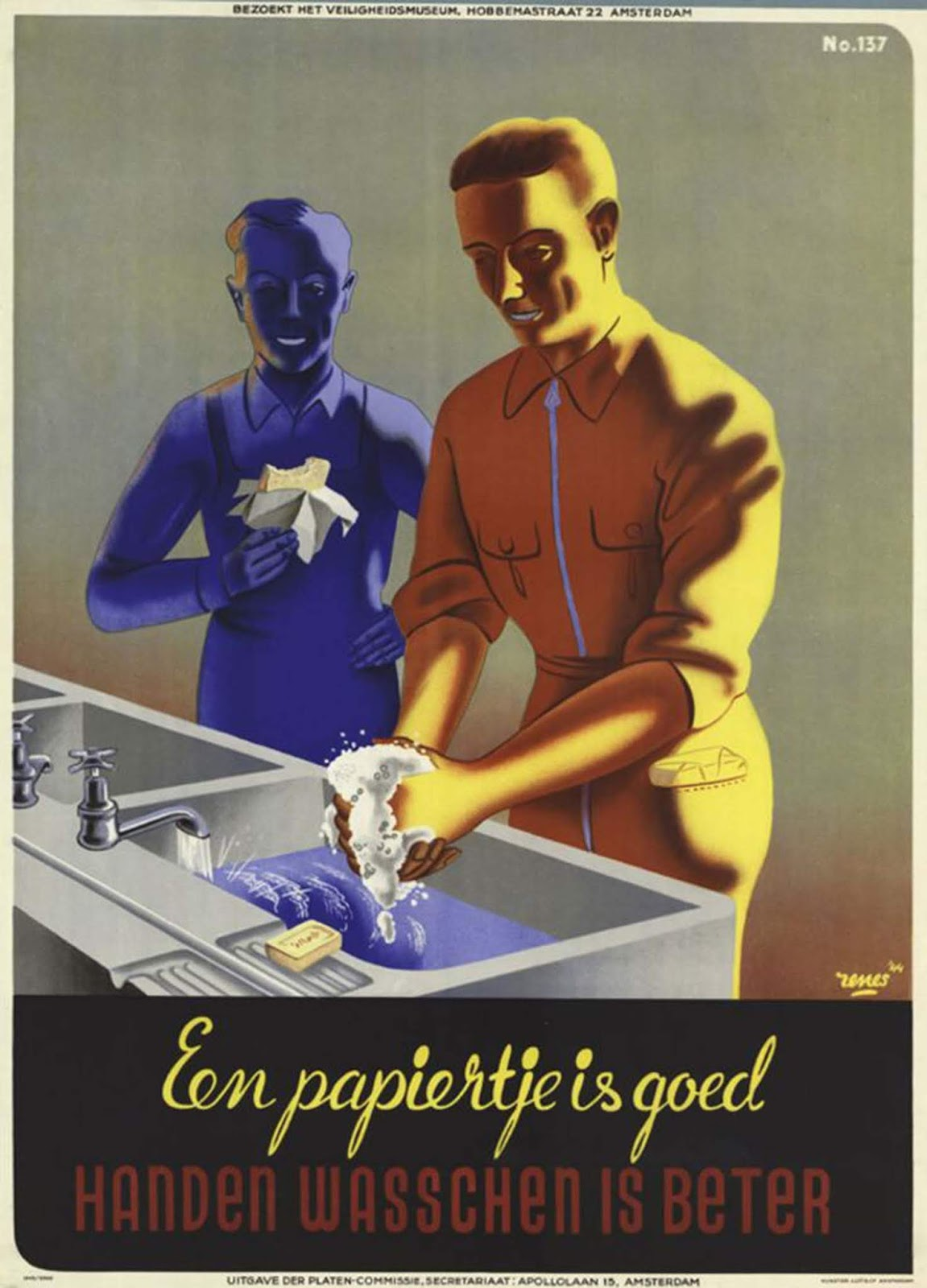 "From the Netherlands: ""Paper is good but hand washing is better."""