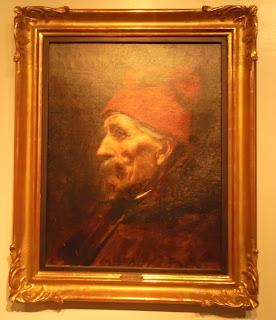 το έργο Γέροντας με Κόκκινο Φέσι του Νικόλαου Γύζη στο Μουσείο Μπενάκη