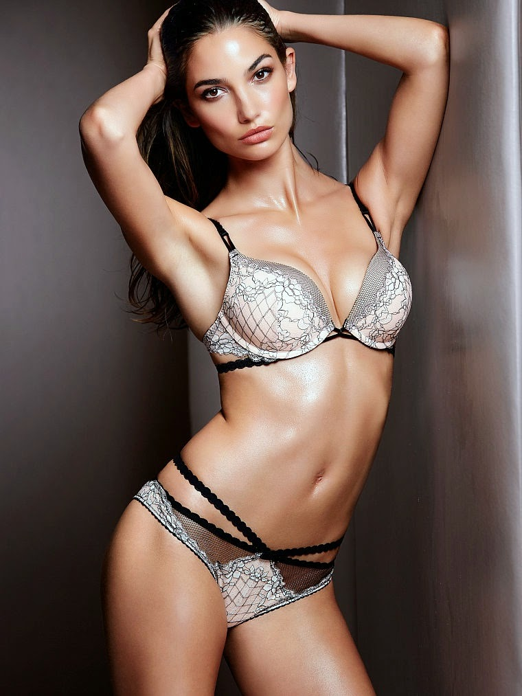 9a305f48bf Lily Aldridge entices and allures for the Victoria s Secret Lingerie July  2014 Lookbook