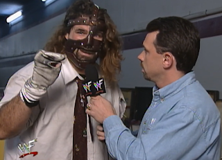 WWE / WWF Judgement Day 1998: In Your House 25 - Michael Cole interviews Mankind about his match with Ken Shamrock