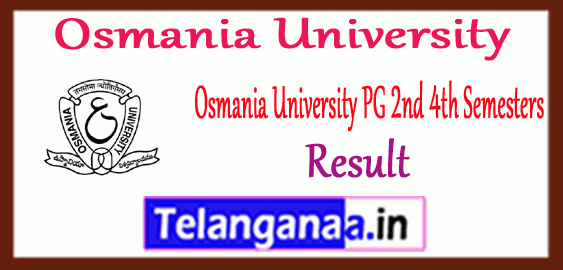 OU Osmania University MA M.Sc M.Com 2nd 4th Semesters Result
