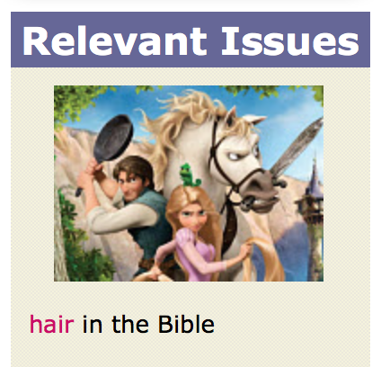 Christiananswers.net thinks 'hair in the Bible' is relevant to Tangled