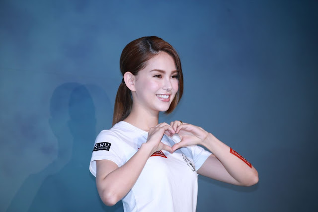 Taiwanese actress Hannah Quinlivan at Dr Wu Charity Conference in Taipei