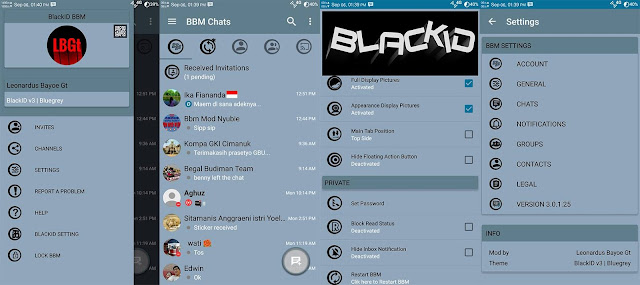 Download BBM Mod Black ID Blue Grey Edition